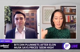 Bitcoin plummets following a tweet from Elon Musk